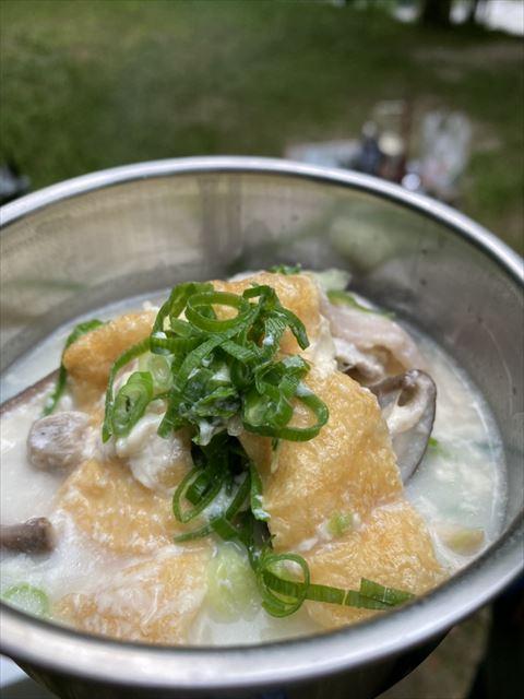 楽粹 発芽大豆の豆乳鍋の完成